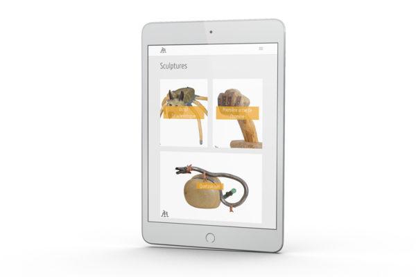 Sculpture Lorenzo - site Internet (tablette)
